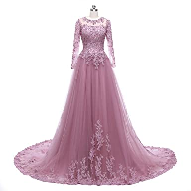 B Emily DuBai Beaded Long Sleeves Evening Gown Formal Dresses ED018: Amazon.co.uk: Clothing