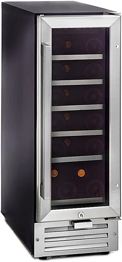 Whynter BWR-18SA 18 Bottle Built-in Wine, Stainless Steel Beverage Refrigerator,