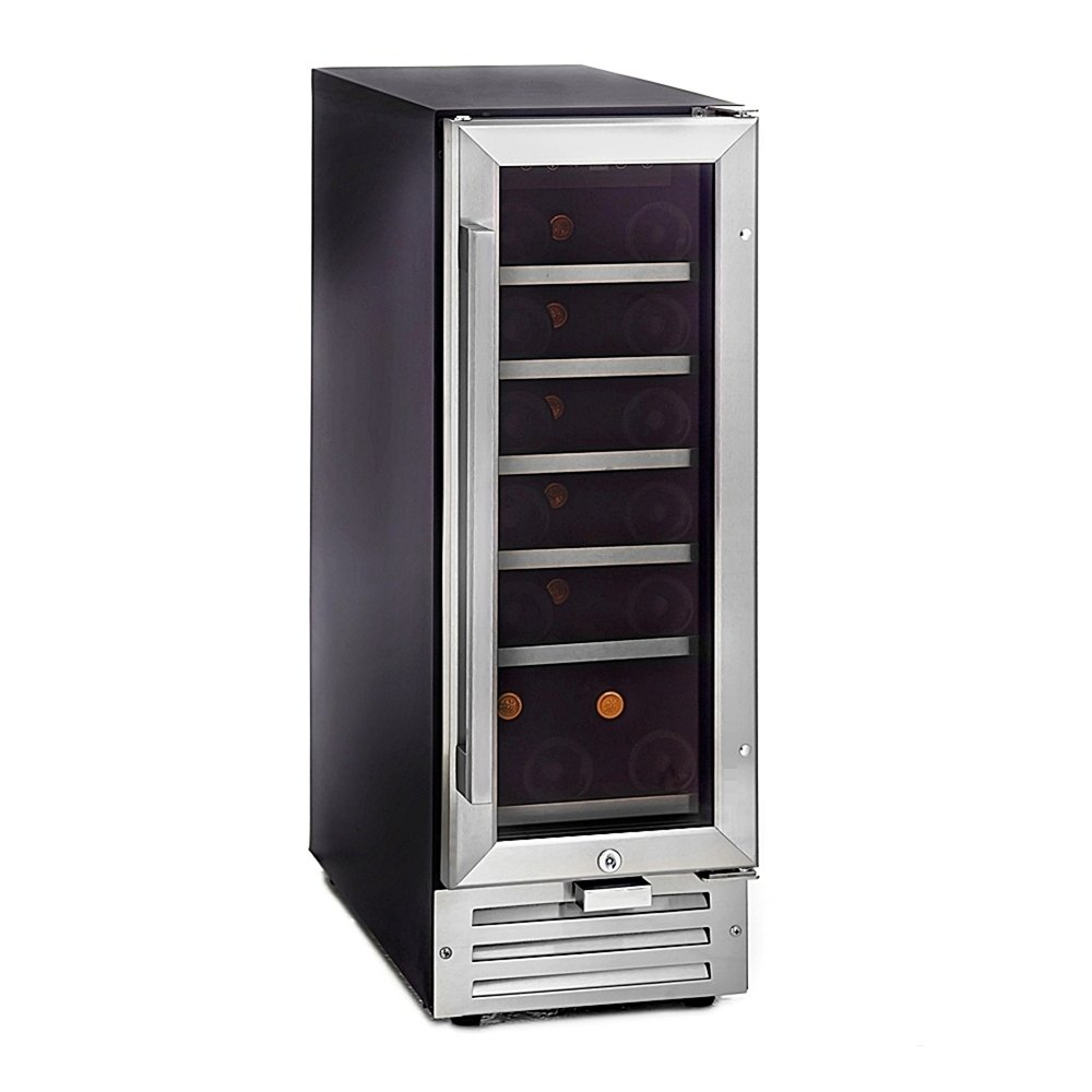 Whynter BWR-18SA 18 Bottle Built-In Wine Refrigerator, Stainless Steel