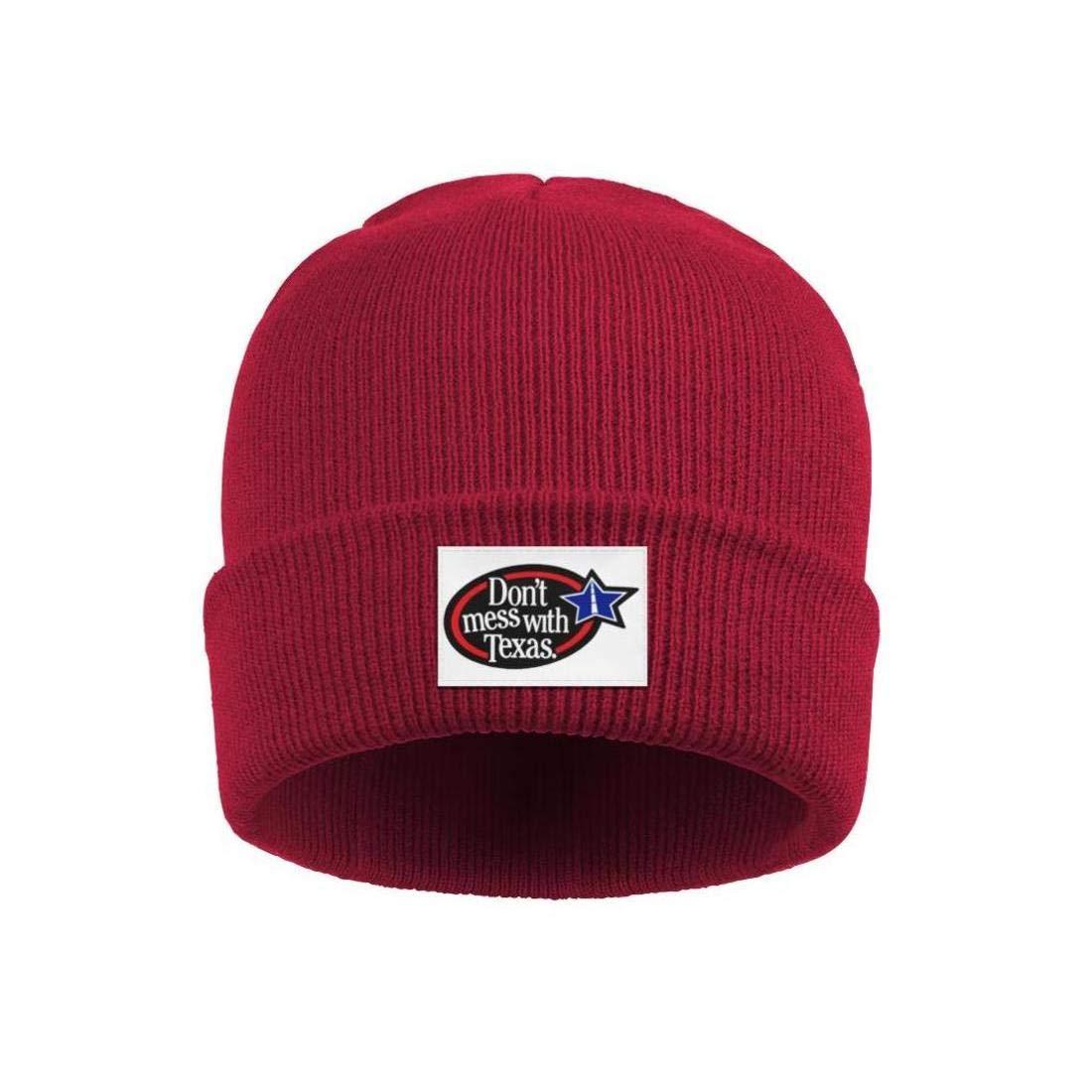 FYFYOK Men Slouchy Beanie Hat Winter Hats Dont Mess with Texas Star Logo Ski Cap
