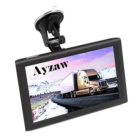 ayzaw 22,86 cm coche camión GPS DVR Tablet dispositivo de navegación con Bluetooth Pantalla