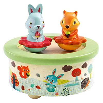 DJECO Friends Melody Wood Music Box: Toys & Games