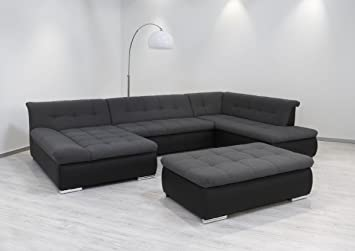 Dreams4home Polsterecke Aulis Sofa Wohnlandschaft Ecksofa Couch Xxl