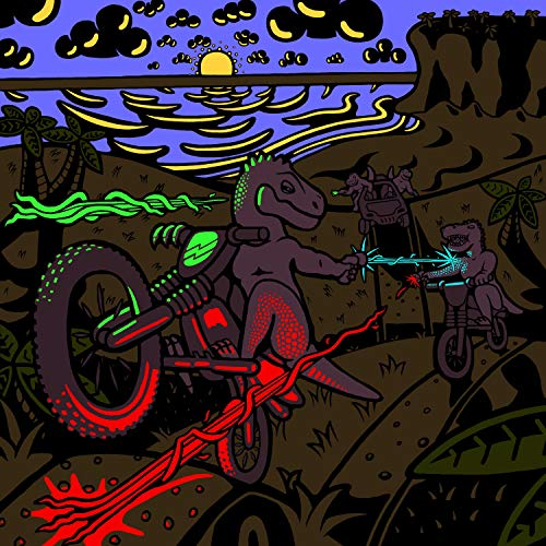 - Dinosaurs on Motorbikes With Lasers