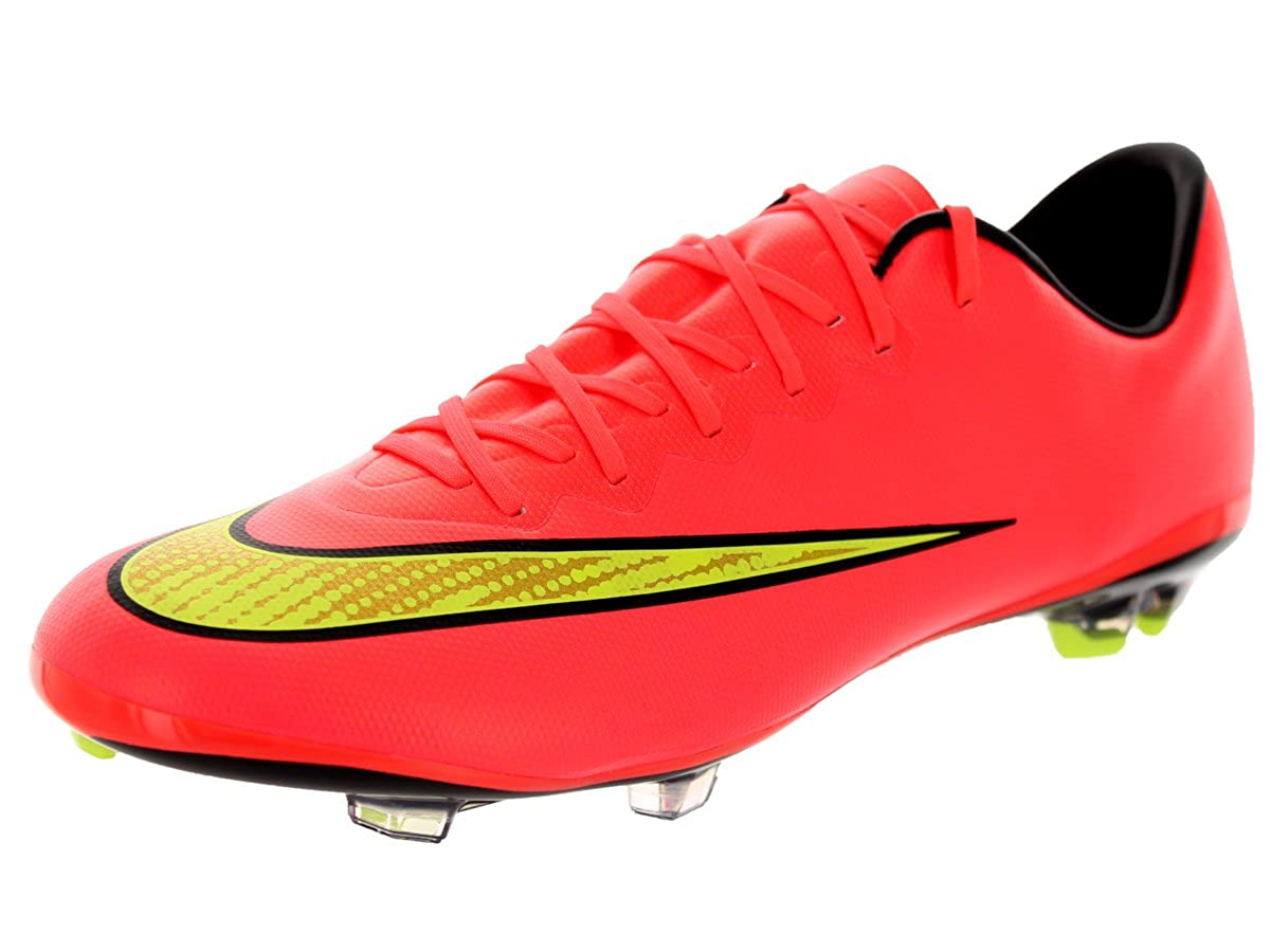 official photos a561c eba88 Nike Kids Jr Mercurial Vapor X Fg Hypr Punch/Mtlc Gld Cn/Blk/Vlt Soccer  Cleat Kids US