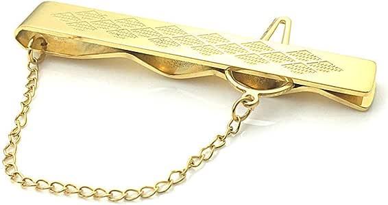 EVBEA Pisacorbatas Metal Acero Inoxidable Plata Dorados Pasador de Corbata Clip para Hombres Dia del Papá con Caja de Regalos Dia del Padre Joyería: Amazon.es: Joyería