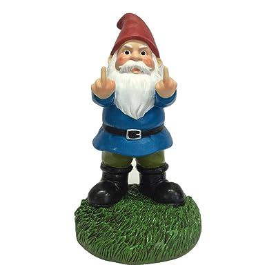 """Gnometastic The Original Double Bird Garden Gnome Statue, 8.45"""" Tall : Garden & Outdoor"""
