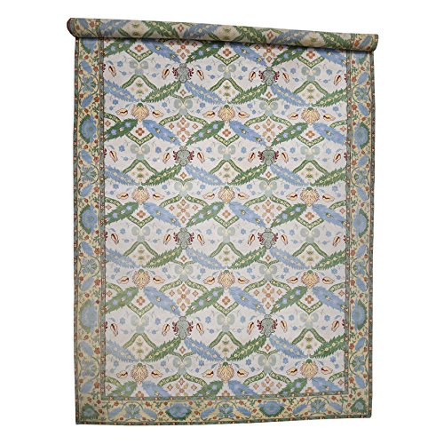 Mansion Size Vivid Tibetan with Serrated Leaves Hand-Knotted Rug(14'7