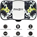 Paby GPS Pet Tracker Smart Activity Monitor Mini Real-time Tracking Tracker Device Locator with Pet Collar for Dogs Cats and more (Future Green)