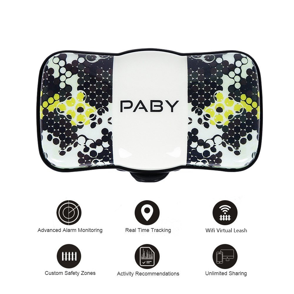 PABY Pet Tracker, 3G GPS Pet Tracker & Activity Monitor Dogs Cats Smart WiFi Virtual Fence Rechargeable Waterproof Tracker Pet Safe Wireless Fence Pet Finder Android/iPhone
