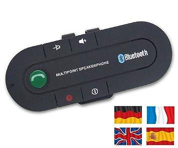 NRG Clever® ICALL - Nueva Bluetooth 4.1 manos libres coche kit. Multilingüe sistema.
