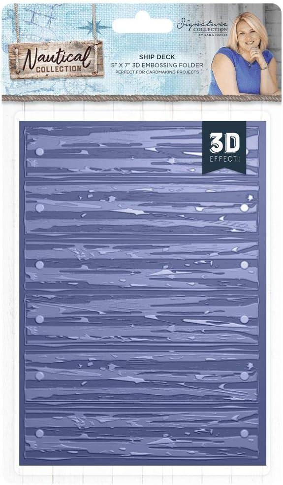 5x7 Embossing Folder Seashell Sara Davies Nautical Signature Collection