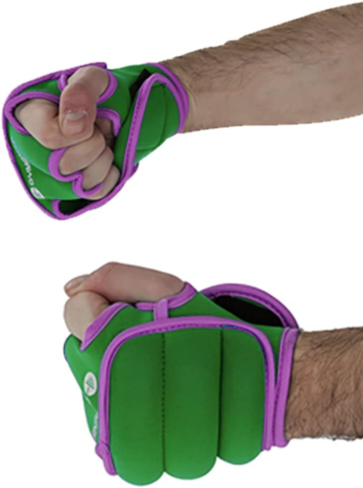 GYMENIST Weighted Gloves Pair of Wrist Weights Glove with Holes for Finger and Thumb Available in 1LB or 2LB Set of 2 Training Weight Gloves