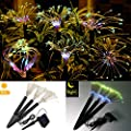 Solerconm Solar Garden Decoration Lights Outdoor Led Solar Firework Lights 144 Leds Landscape Stake Light 8 Mode Diy Starburst Lights For Pathway Backyard Christmas Party Decor Multicolor