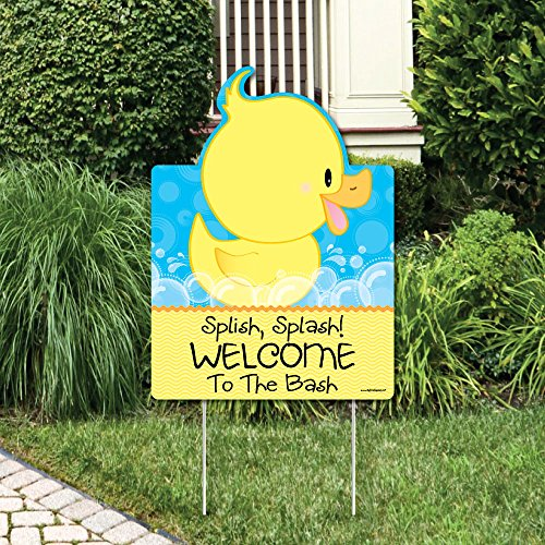 Big Dot of Happiness Ducky Duck - Party Decorations - Birthday Party or Baby Shower Welcome Yard Sign