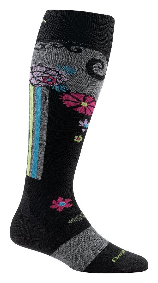Darn Tough Flowers Light Socks - Women's Black Large