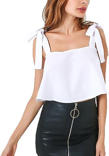Camisetas Tirantes Mujer Elegantes Sin Mangas Espalda ...