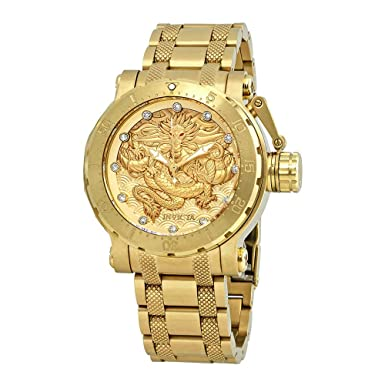 Invicta Men s 26511 Coalition Forces Automatic 3 Hand Gold Dial Watch