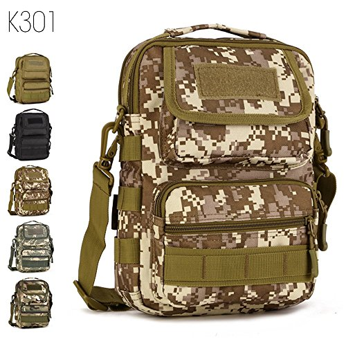 Price comparison product image FLYHAWK Tactical Molle Pouch crossbody bags,Small Backpack Handbag Shoulder Bag with Bands and Strap