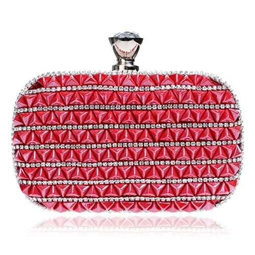 1 Clutch Diamond Evening KERVINFENDRIYUN Red Bride Dress Purse Color Bag Ladies Luxury Banquet Handbag Multicolor 1R1WwUqOz