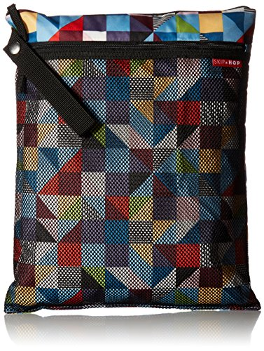 Skip Hop Grab-and-Go Wet-Dry Bag, Prism, Multi