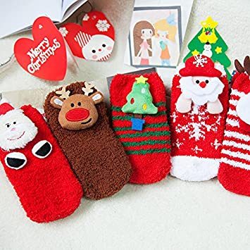 christmas gift ideas for children coral velvet cartoon animal socks non slip floor socks warm