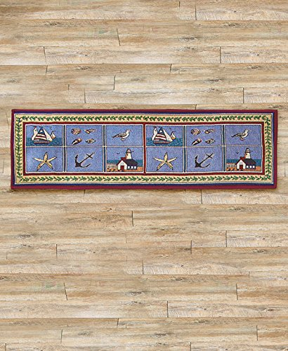 Coastal Nautical Nonskid Tapestry Runner product image