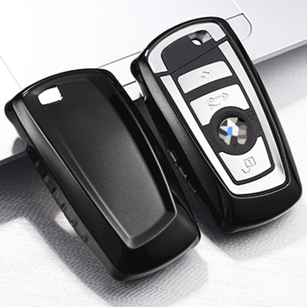 Sliver QBUC for BMW Key Fob Cover Protective Case Soft TPU Anti-dust Protection Key Case Shell Keyless Remote Control Smart Car Key Protector for BMW 1//2//3//4//5//6//7 Series and X3 X4 M2 M3 M4 M5 M6