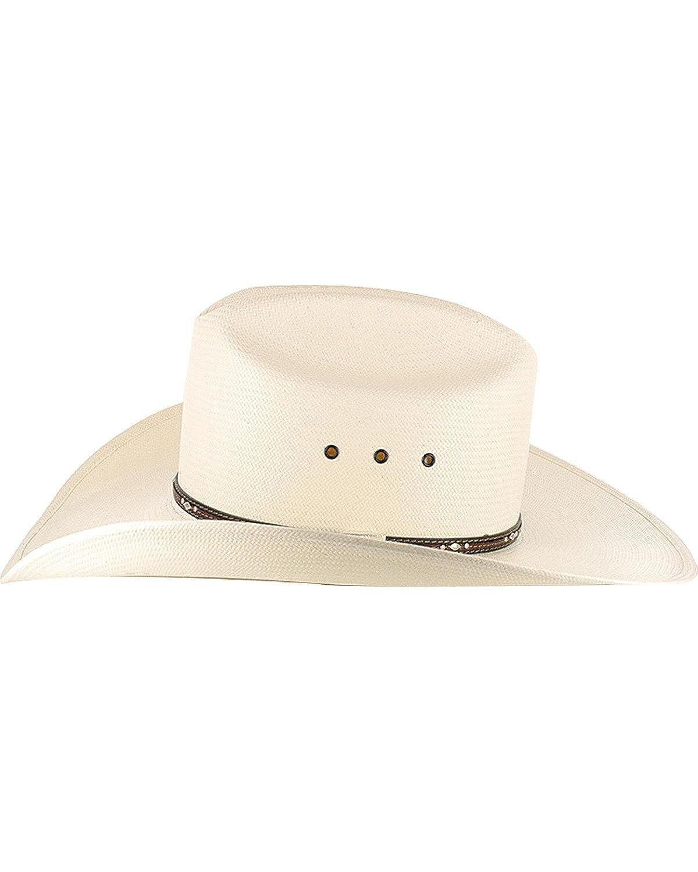 af05a4cf1dd23 Resistol Men s George Strait Kingman 10X Straw Cowboy Hat - Rskngk-304281  at Amazon Men s Clothing store