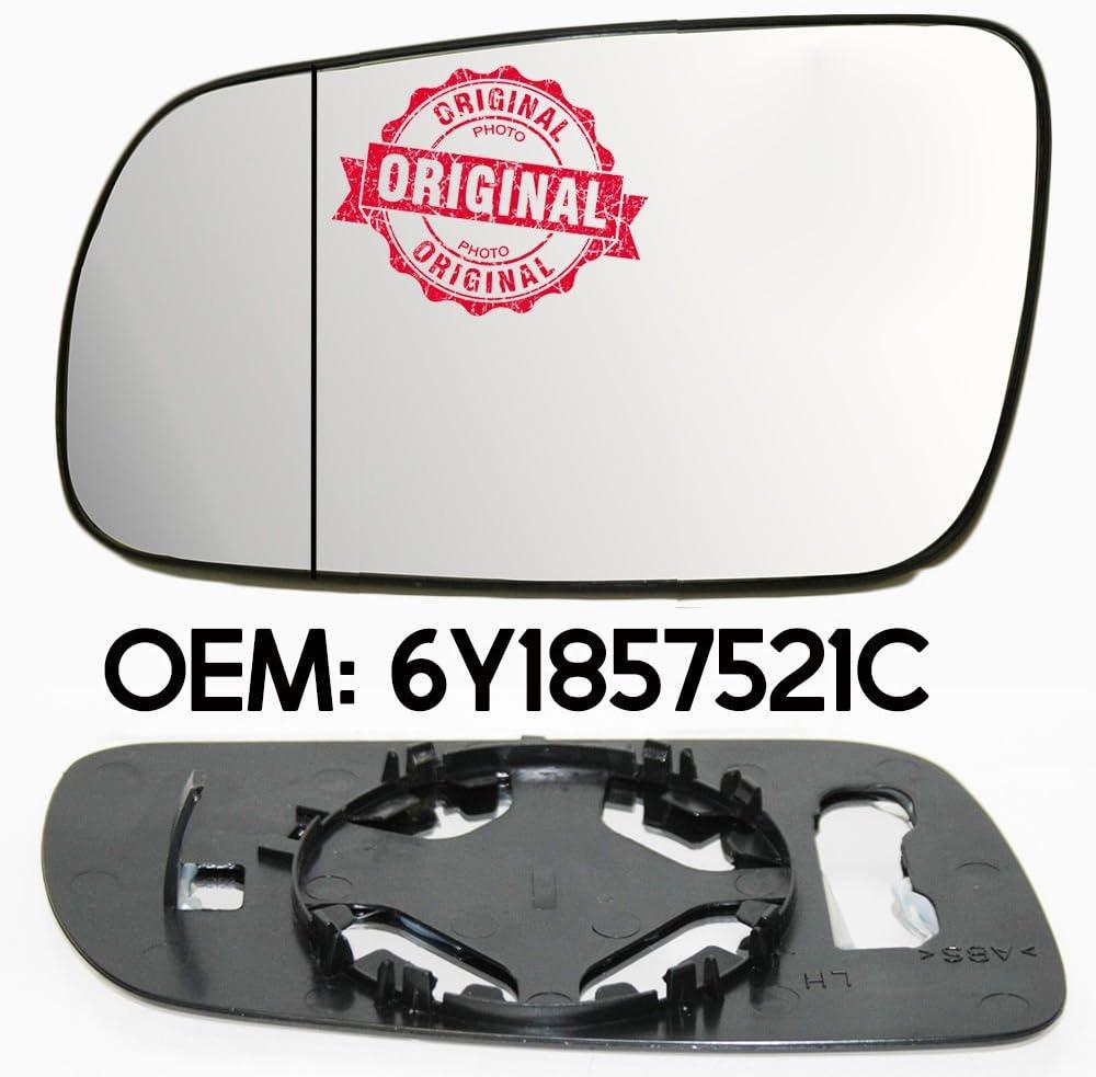 Links Seitenspiegelglas /& Base Weiter Winkel Fur Octavia 1997 Weiter OEM 6Y1857521C