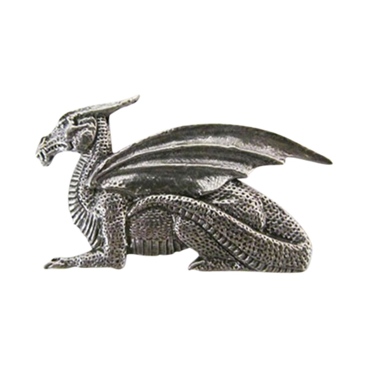 Creative Pewter Designs, Pewter Dragon With Wings Premium Lapel Pin Brooch, Antiqued Finish, A176PR