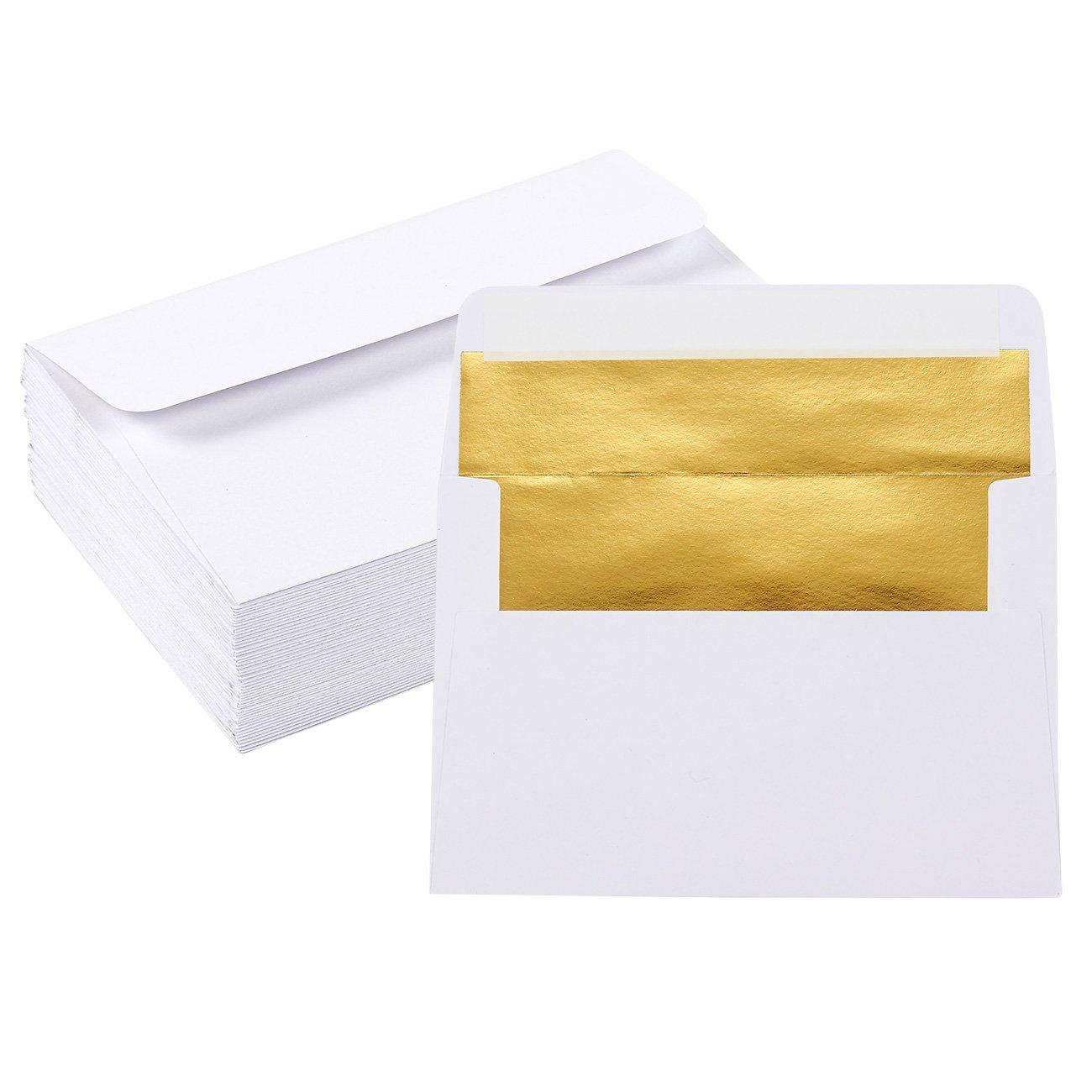 /120/gsm buste A7 Black//Gold /perfetto per matrimoni 120/g//mq compleanno inviti/ laurea 50/pezzi buste invito/