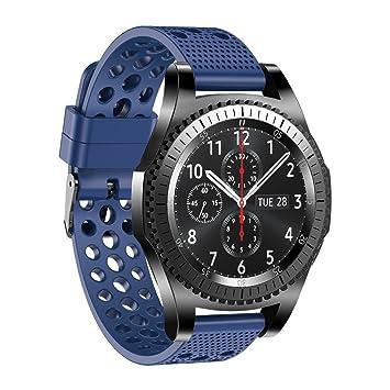 Fit-power. Correa de reloj de silicona para Samsung Gear S3 Classic, para hombre y mujer, 22 mm, Plain-6A