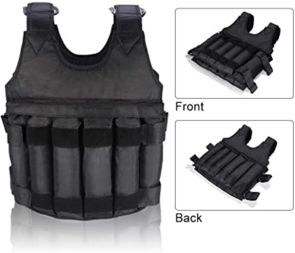 Workout Weight 44LB 110LB Adjustable Weighted Vest Exercise Training Fitness USA