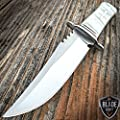 "8"" STAINLESS STEEL CELTIC CROSS HUNTING KNIFE Pearl HANDLE Gothic Skinning"