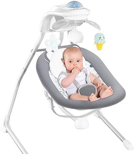 RONBEI Baby Swings for Infants, Cradle Swing - Best Cradle Swings for Baby