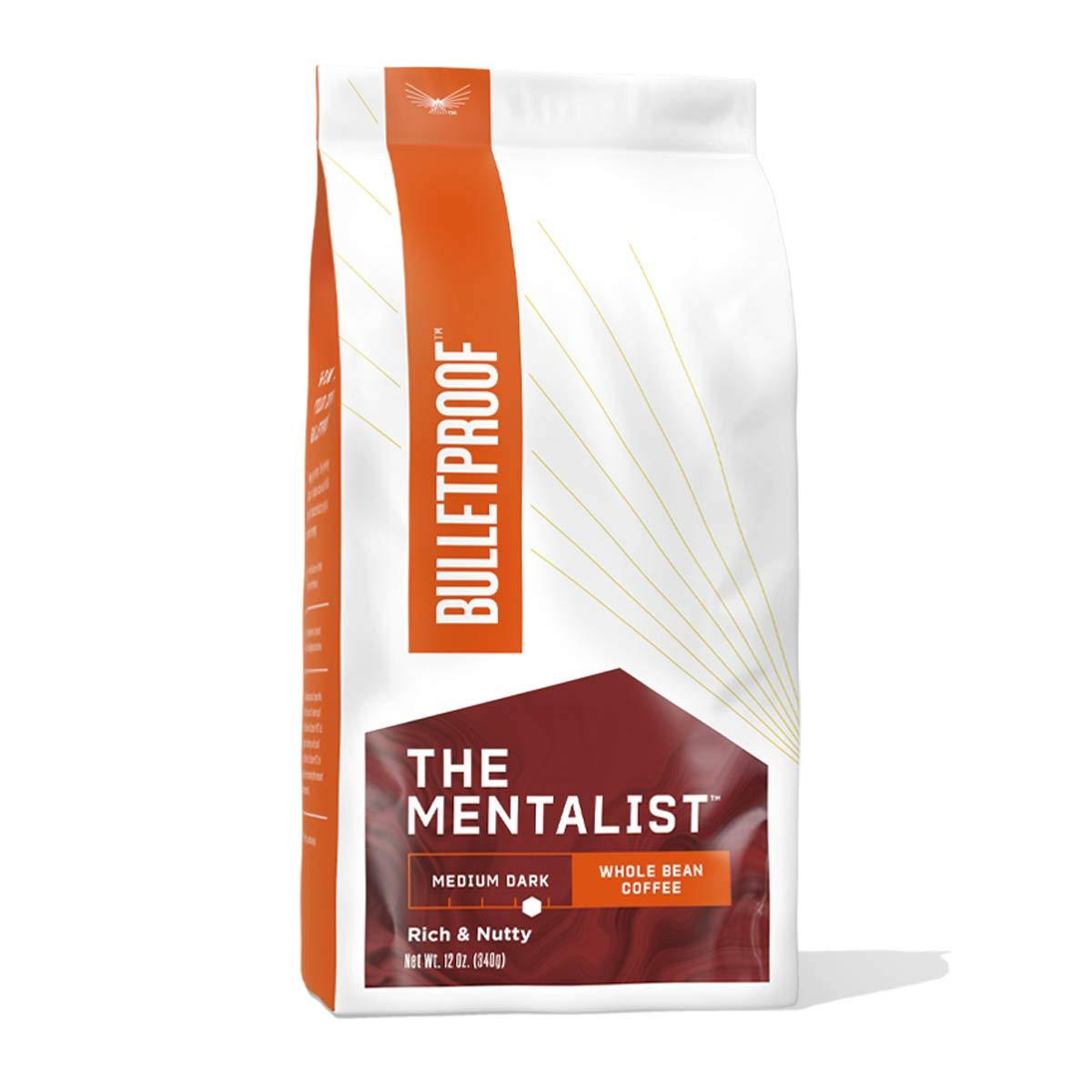 The Mentalist Whole Bean Coffee, Medium Dark Roast, 12 Oz, Bulletproof Keto Friendly 100% Arabica Coffee, Certified Clean Coffee, Rainforest Alliance, Sourced from Guatemala, Colombia & Brazil