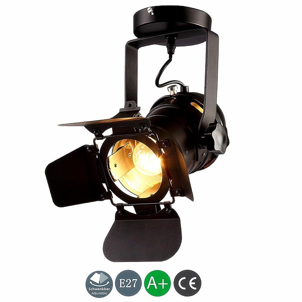 IACON Vintage Strahler Deckenspot RetroDeckenstrahler RetroDeckenstrahler RetroDeckenstrahler Schwenkbar Hängeleuchte Industrie Leuchte Spotlight Einstellbare Flexible Wandlampe Deckenlampe Innen Lampe Beleuchtung 96fffe