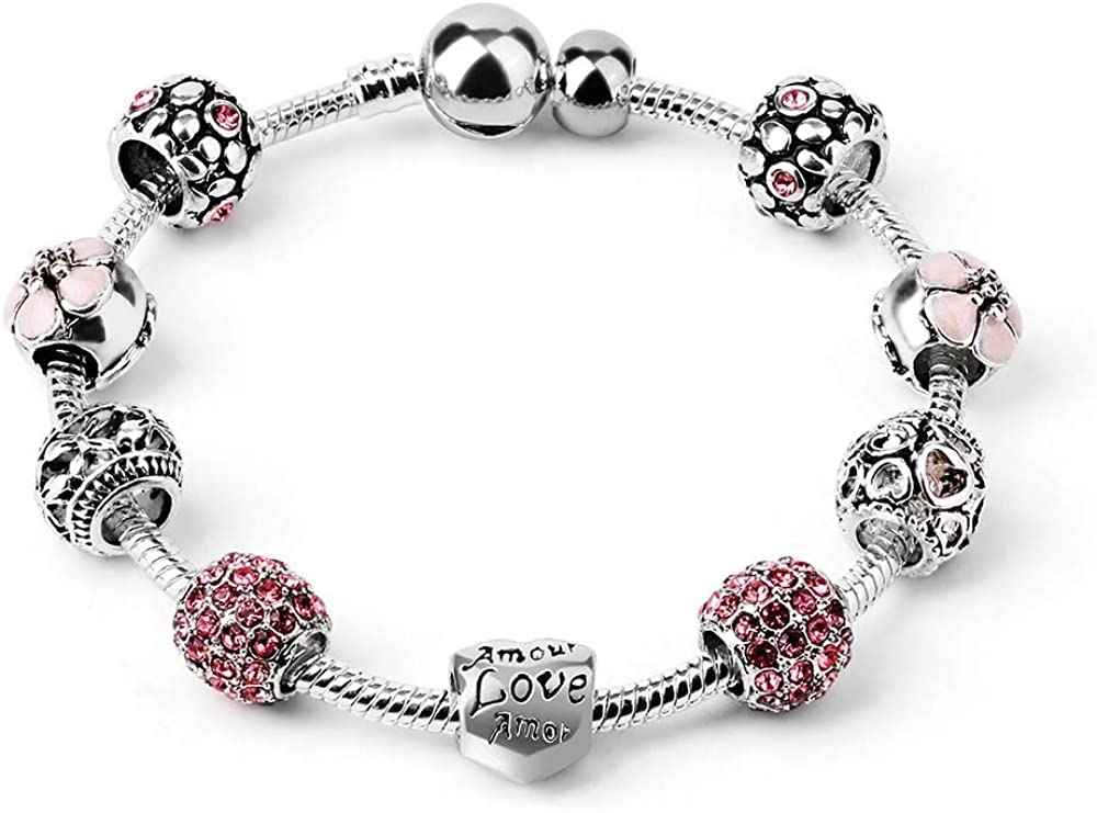 Someone Special For Charm Bracelet 2 Metal Heart Charm Beads