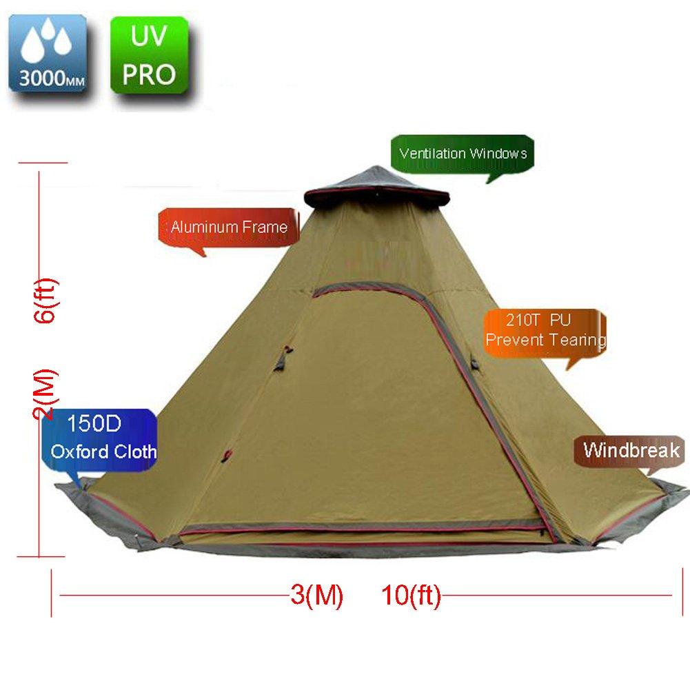 Zimo Campingzelt Familienzelt Großes Zelt windschutz Moskitonetz für 5-8 Personen