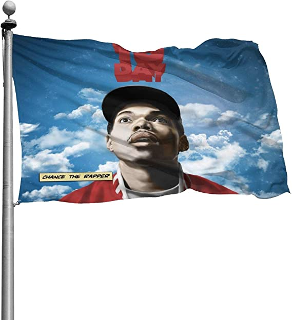 LuchinoVisconti Chance The Rapper 10Day Flag 4x6 Feet with Brass Grommet Double Stitch Banner Garden Flag Breeze House Decorations for Outdoor Home Boat Yacht Car
