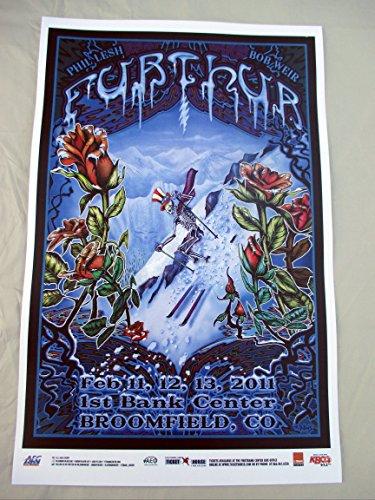 2011 Phil Lesh Bob Weir Grateful Dead Furthur Broomfield,CO Concert Poster Sking
