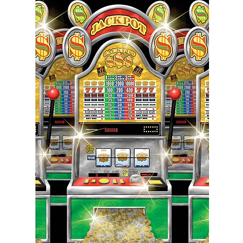 Casino Party Slot Machines Room Roll, 4' x 40'