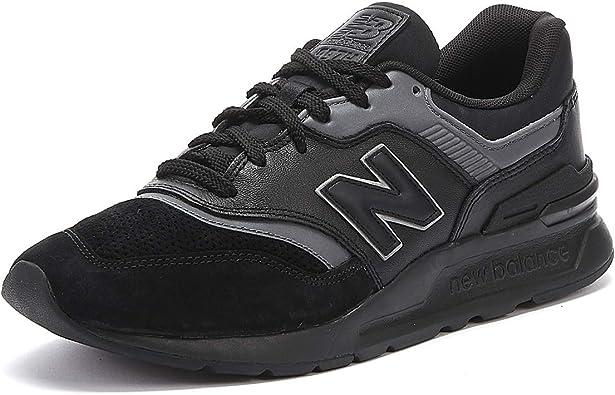 Amazon.com: New Balance 997 Zapatillas de cuero negro para ...
