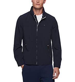 4bf8c64b Tommy Hilfiger Men's Lightweight Boat House Hooded Bomber Jacket at ...