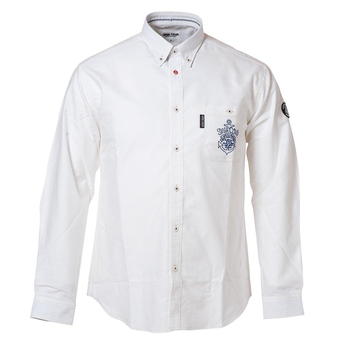 (シナコバ) SINA COVA ボタンダウンシャツ B075342RQ9 L|ホワイト ホワイト L