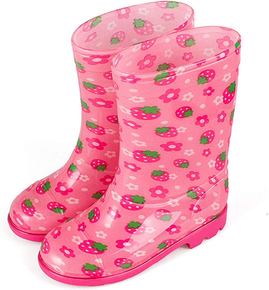 MO MOKER Puddle Play Toddler and Kids Waterproof Rubber Animal Long and Tube-Shaped Rain Boots Easy Boys and Girls Fun Colors and Designs,d,22