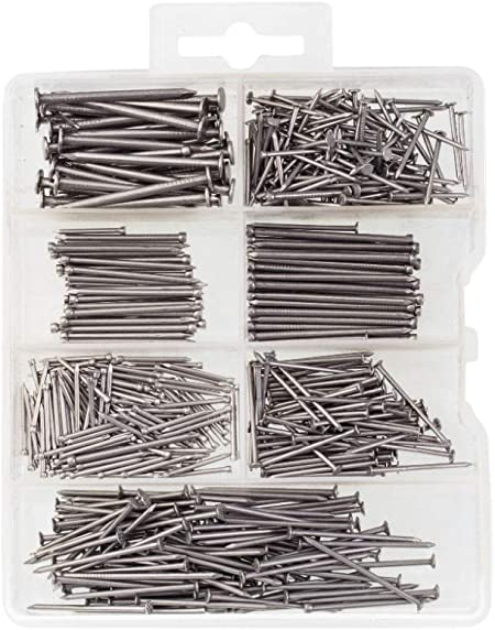 Hardware Nail Assortment Kit Includes Finish Wire Common Brad Home Garden Tools