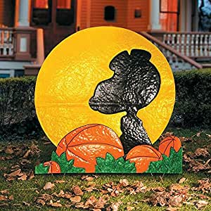 "32"" SNOOPY SILHOUETTE OUTDOOR HALLOWEEN DECORATION"