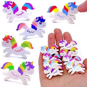 German Trendseller® 24x Goma de borrar Unicornio para niños ...
